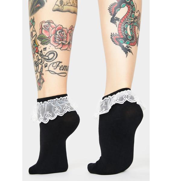 Dark Delicate Daydream Lace Socks