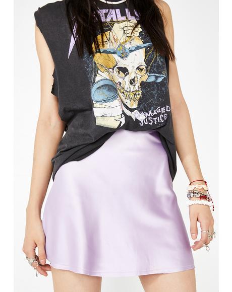 Lavender Flash Forward Silky Skirt