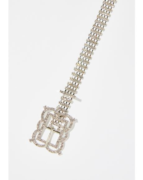 Ice Freeze Crystal Belt Choker