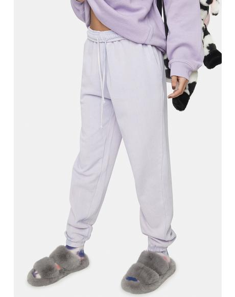 Lilac Megan Washed Joggers