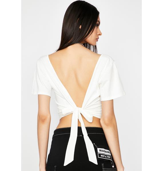 Angel Flirty Lookz Tie Back Top