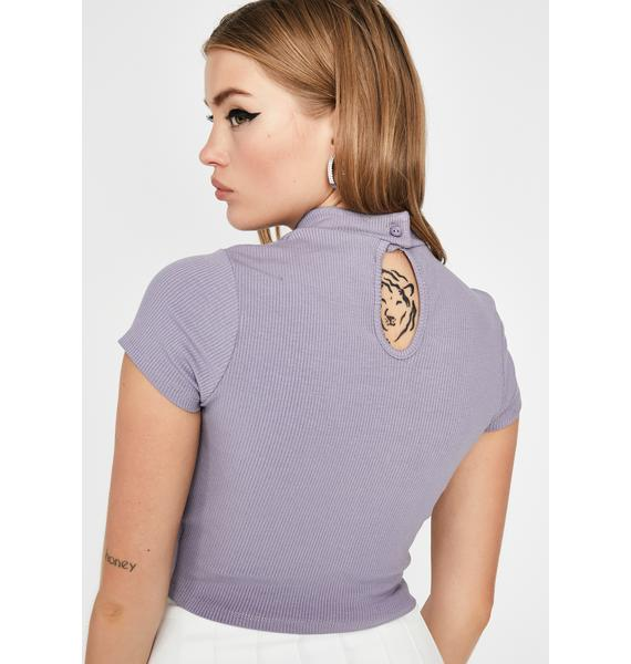 Lilac Love More Cut-Out Top
