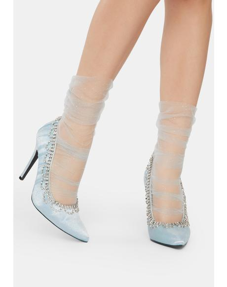 Ice Princess Rhinestone Heels