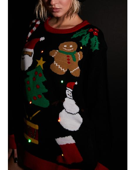Everything Christmas Light Up Sweater