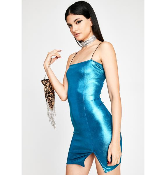 Aqua Sassy Slay Mini Dress