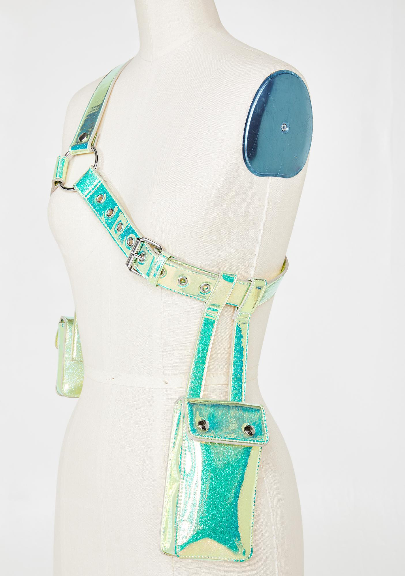 Club Exx Galactic Outlaw Glitter Harness