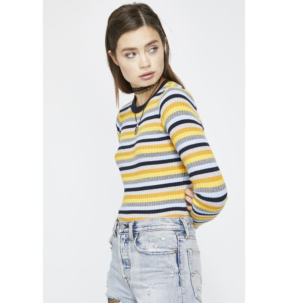 Bae In Charge Stripe Top