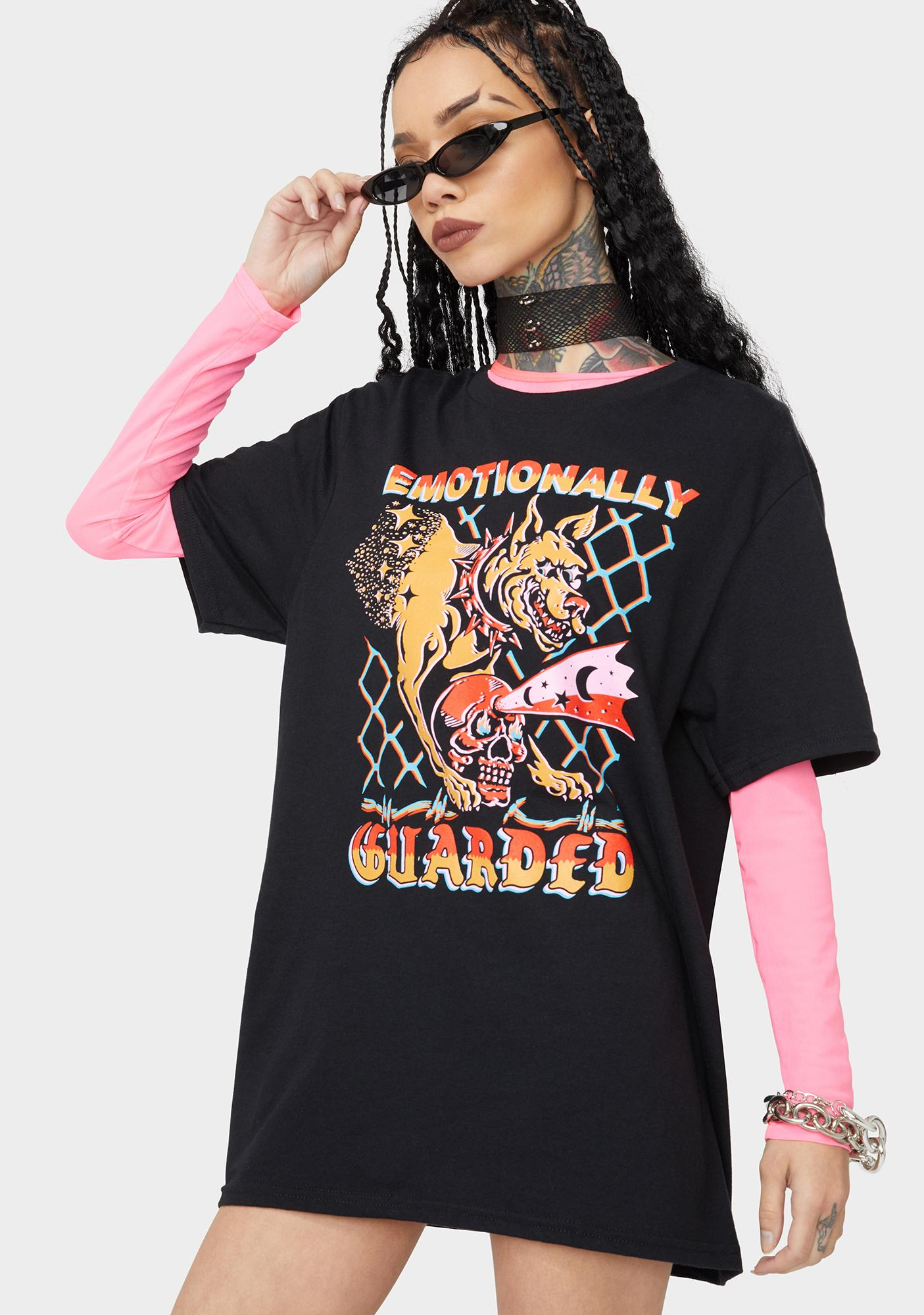 Boss Dog Emotionally Guarded Graphic Tee
