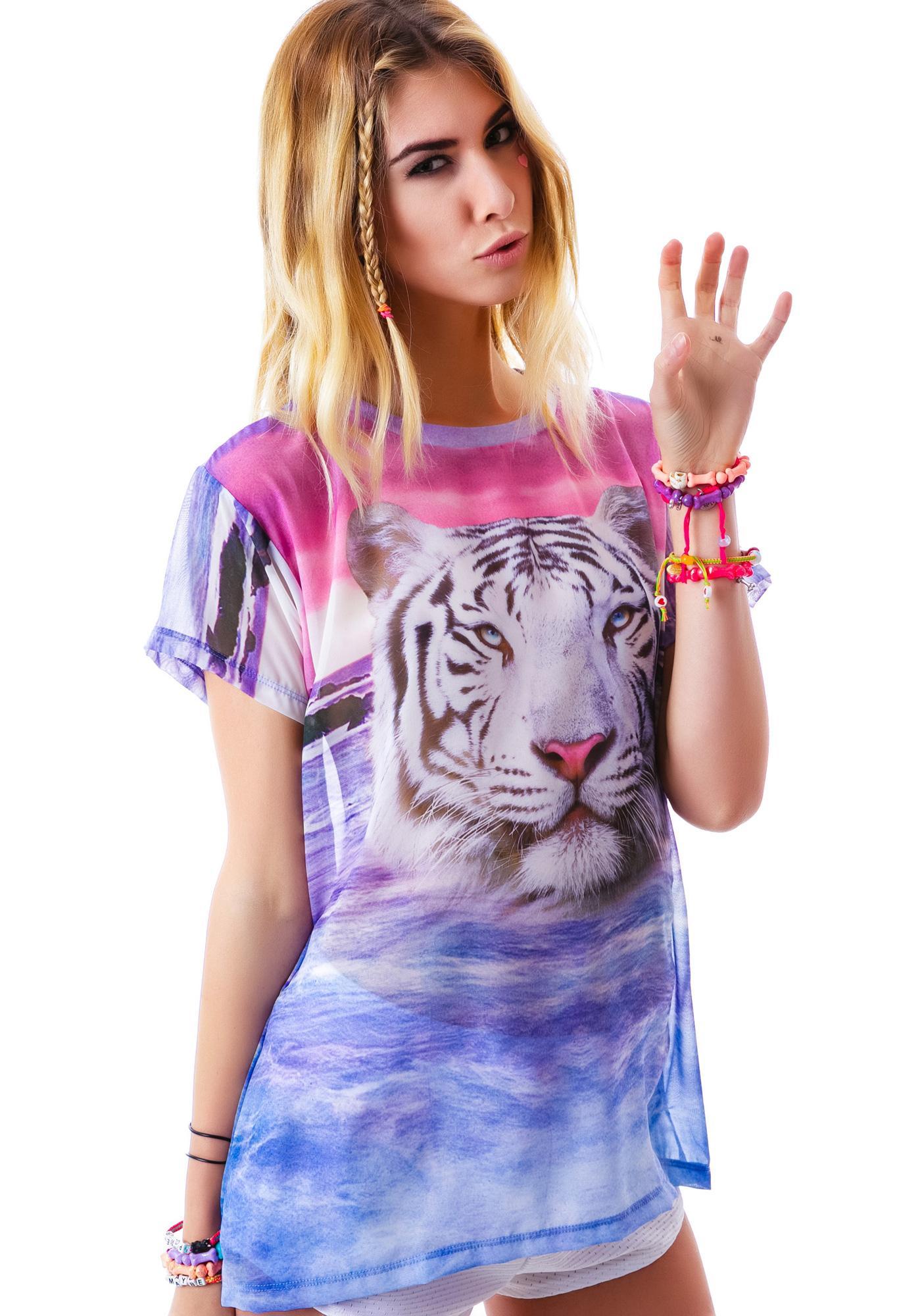 Wildfox Couture Tiger Island Breezie T