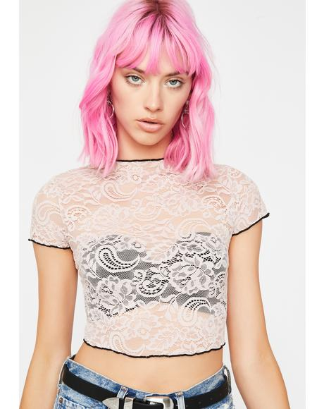 Pixie Daze Lace Crop Top