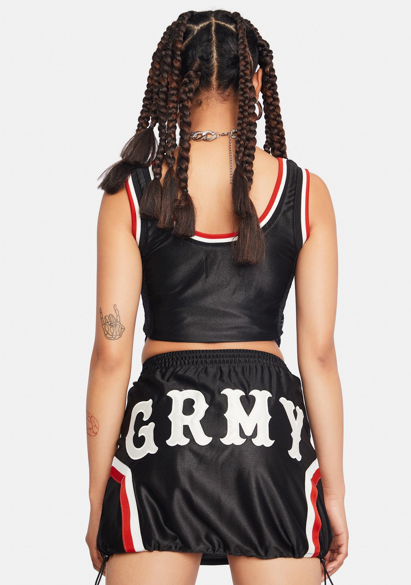 GRIMEY Black Sport Mini Skirt
