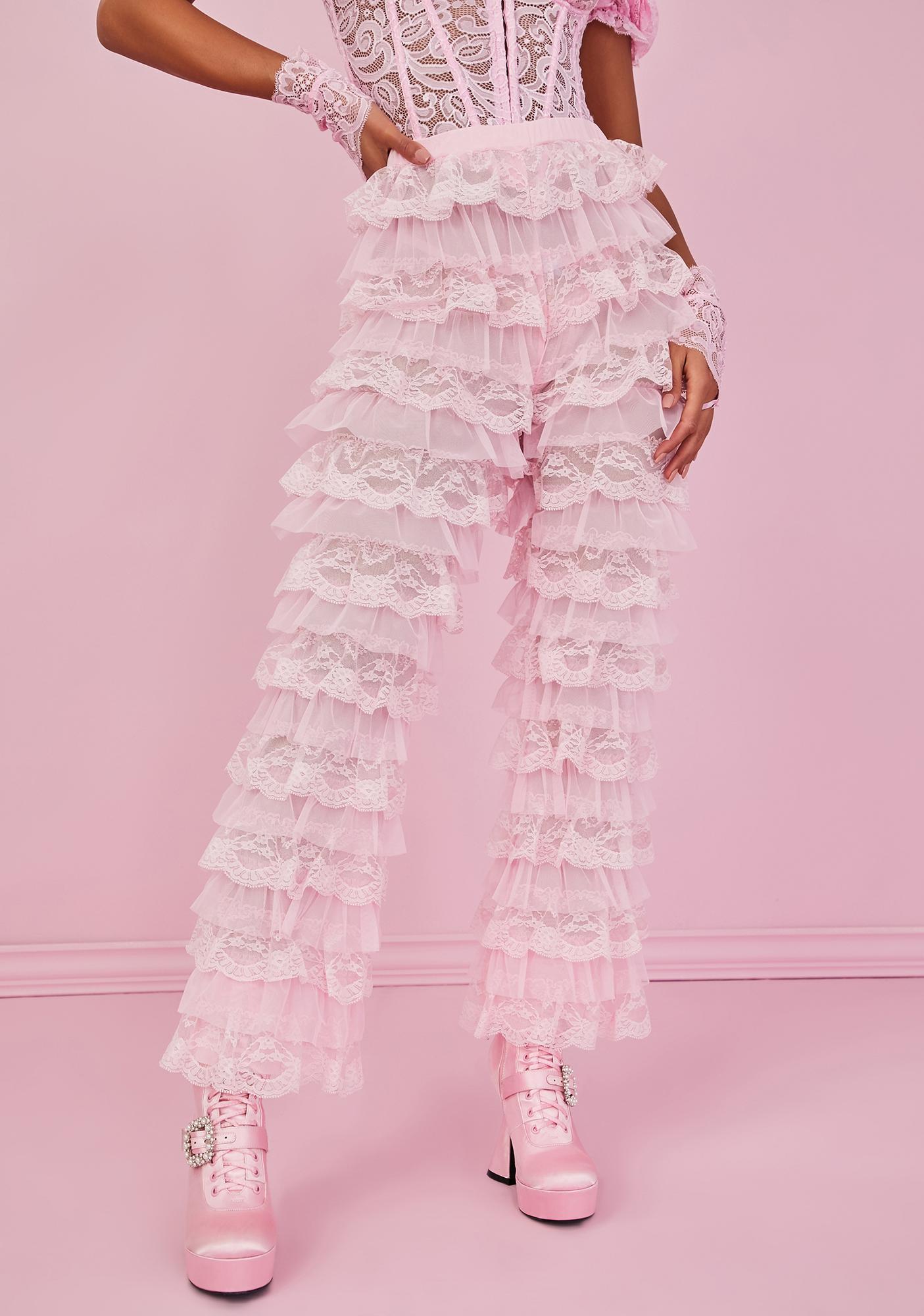 Sugar Thrillz Ode To Romance Ruffle Pants