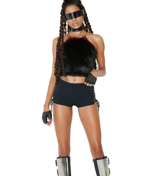 Club Exx Sixth Sense Lace-Up Shorts