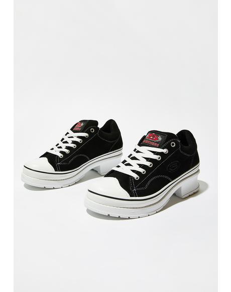 Black Softy Heartbeats Sneakers