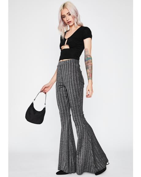 Lustrous Love Striped Flares