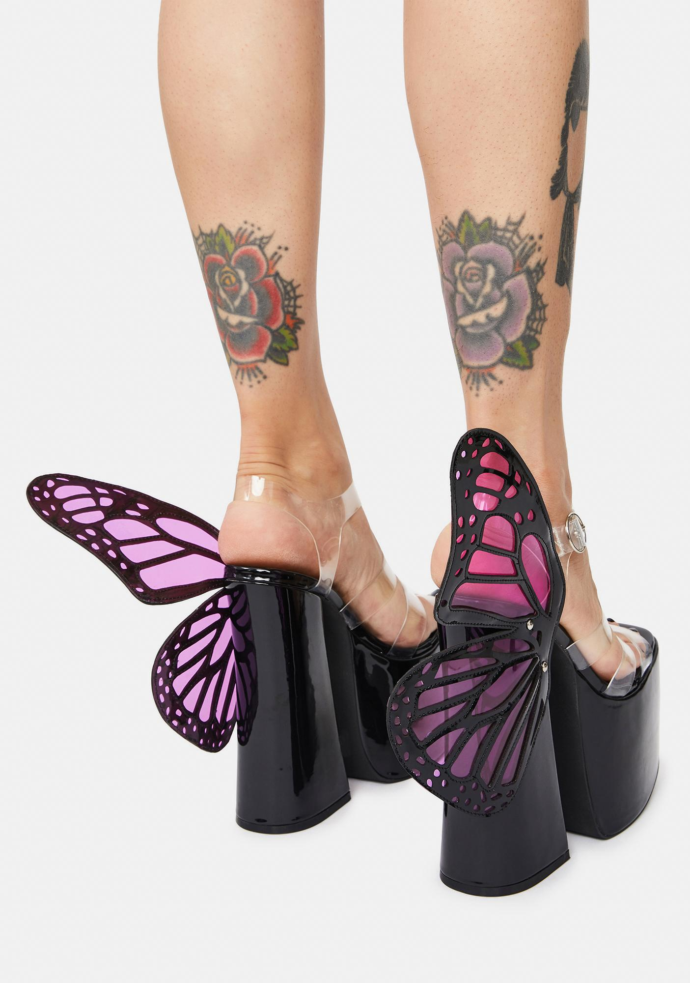 Current Mood Time To Fly Butterfly Wing Platforms