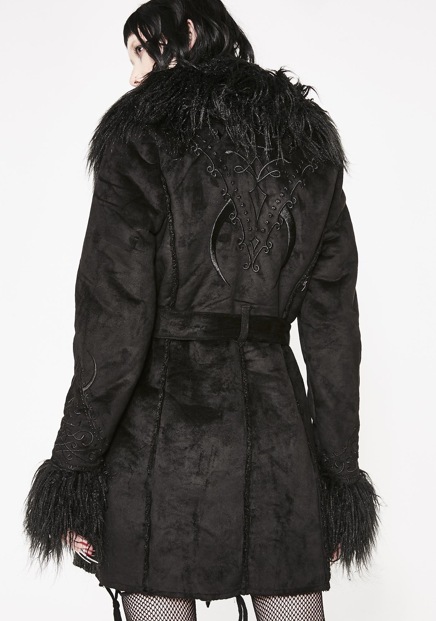 Killstar Belladonna Shearling Coat