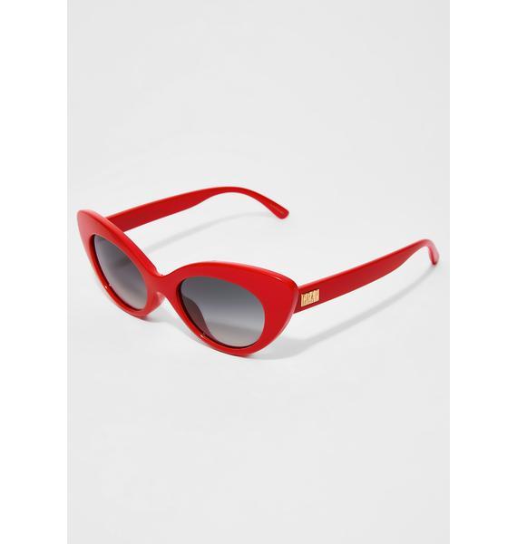 Crap Eyewear The Wild Gift Gloss Cherry Red Sunglasses