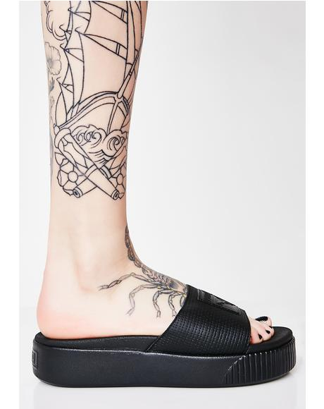 Dark Platform Slide EP Sandals