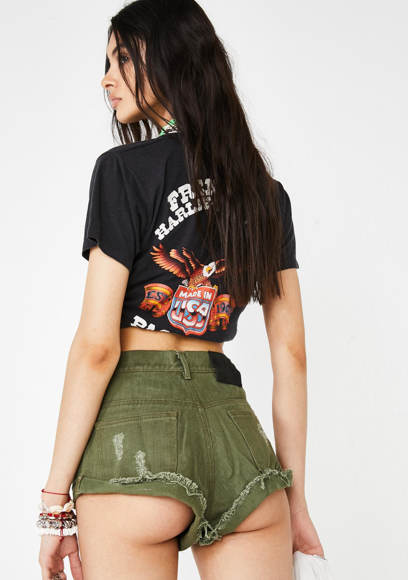 The People VS Boulevard Denim Shorts