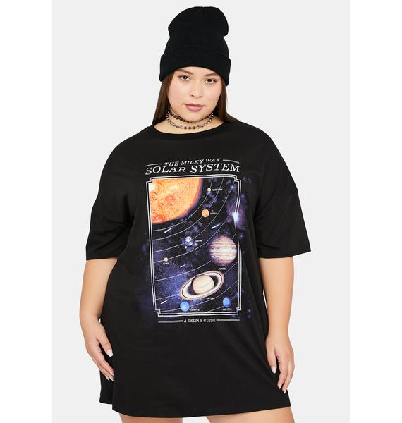 dELiA*s by Dolls Kill Truly The Longest Night Planets Graphic Tee
