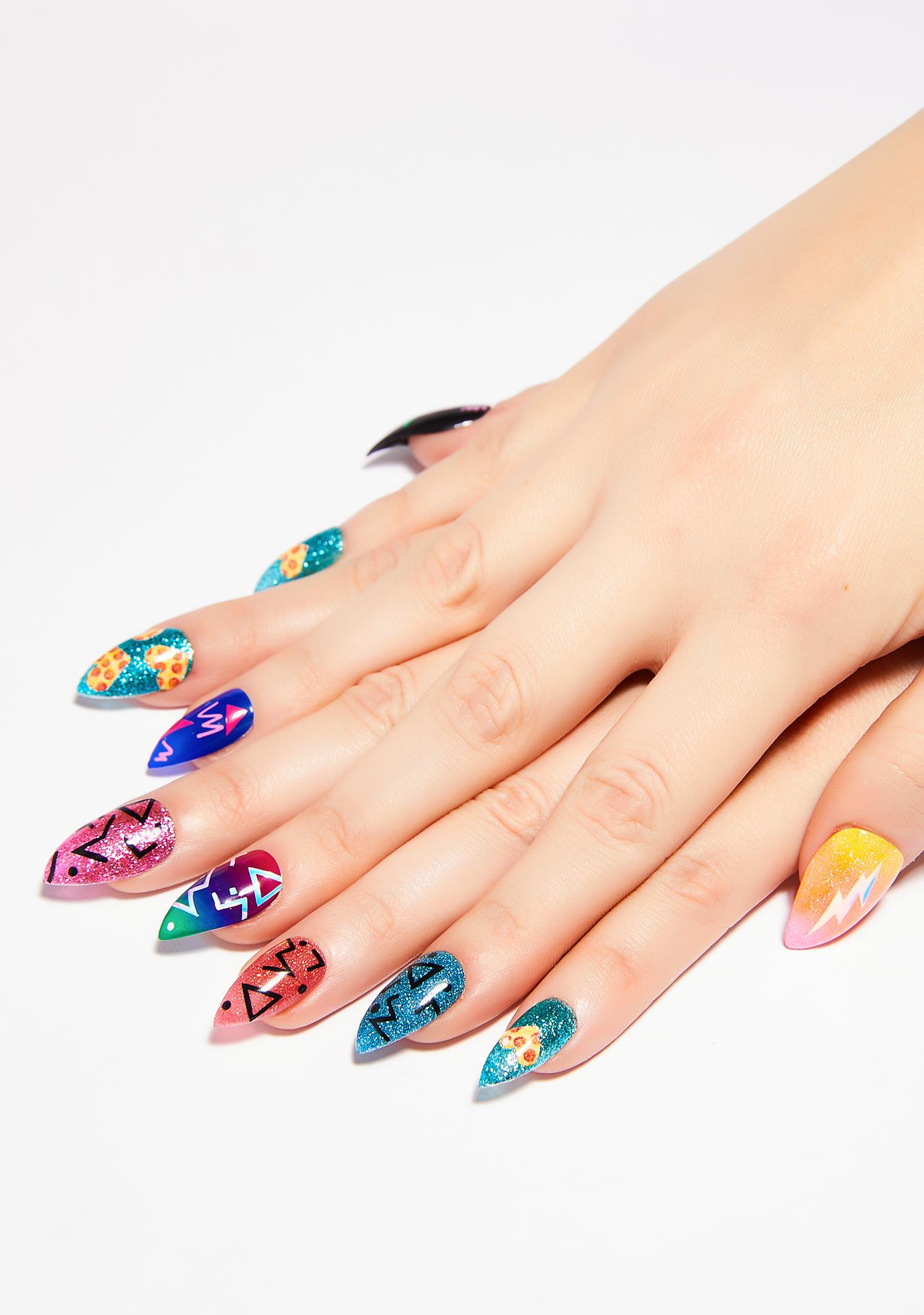 Laser Kitten x OG Nails LA 80's Press On Nail Set