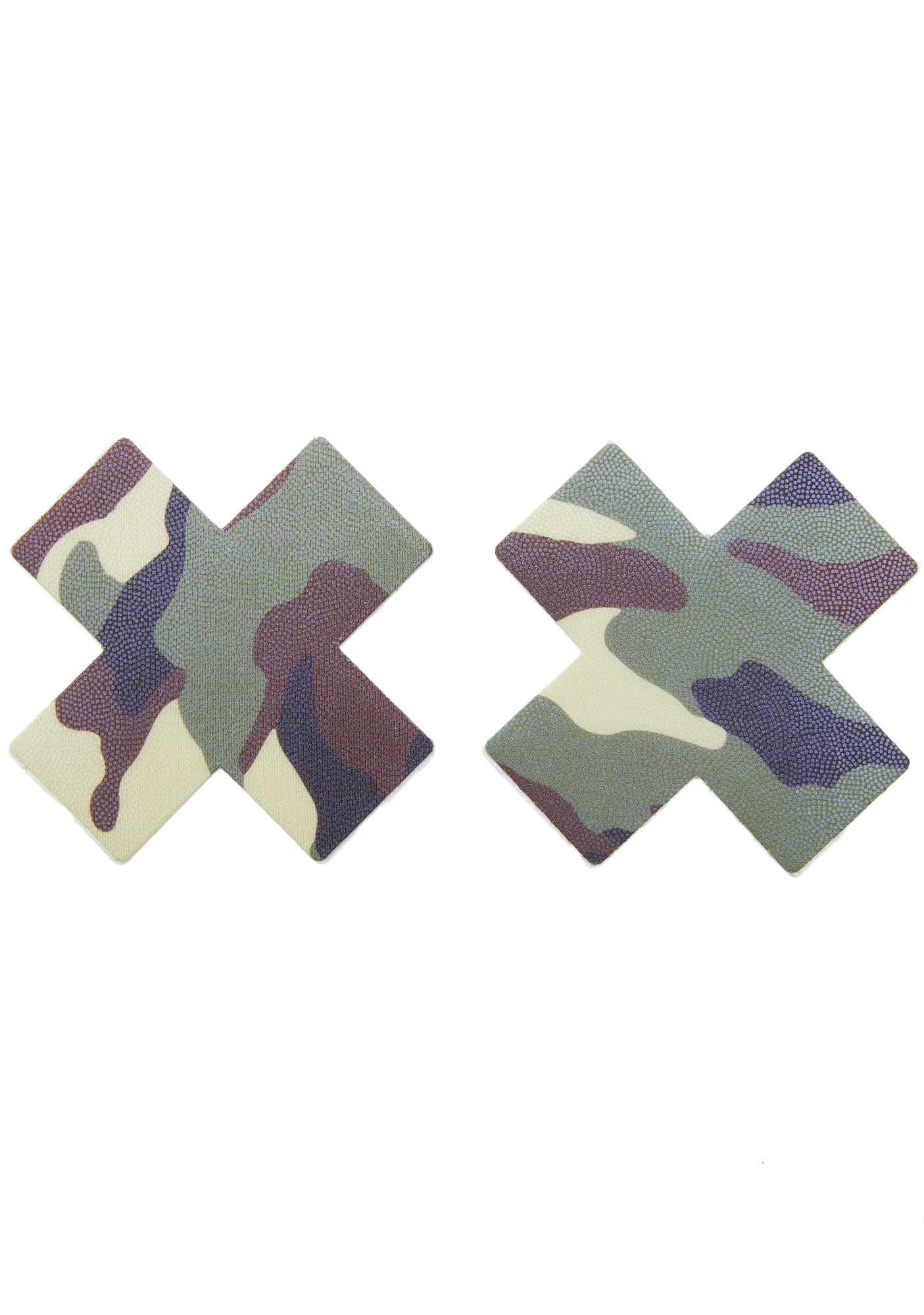 Pastease Green Camo Cross Pasties