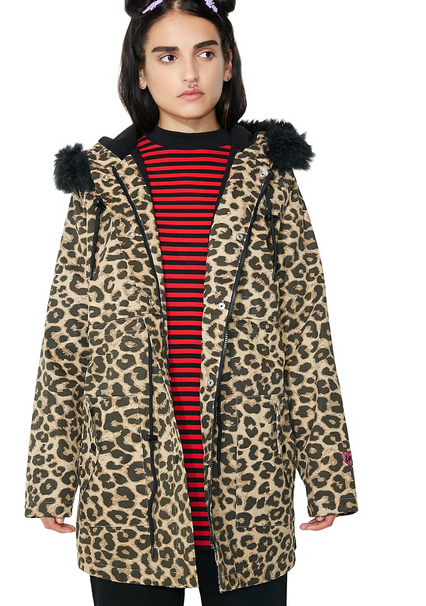 Lazy Oaf Purrfect Printed Parka