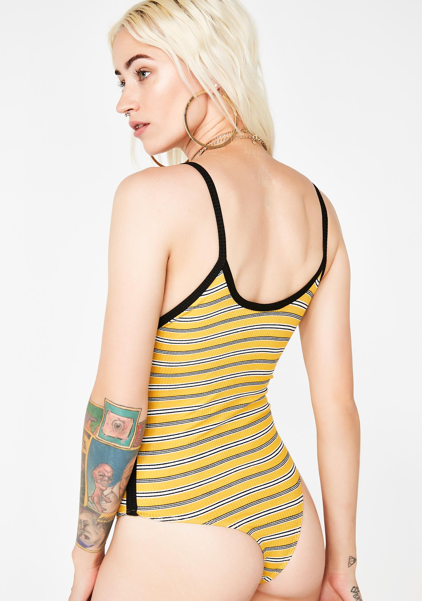 Sunny Wicked Chick Striped Bodysuit