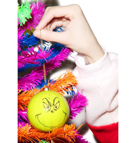 Naughty Grinch LED Ornament