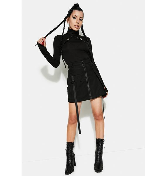 Punk Rave Punk Series A-Line Waist Mini Skirt