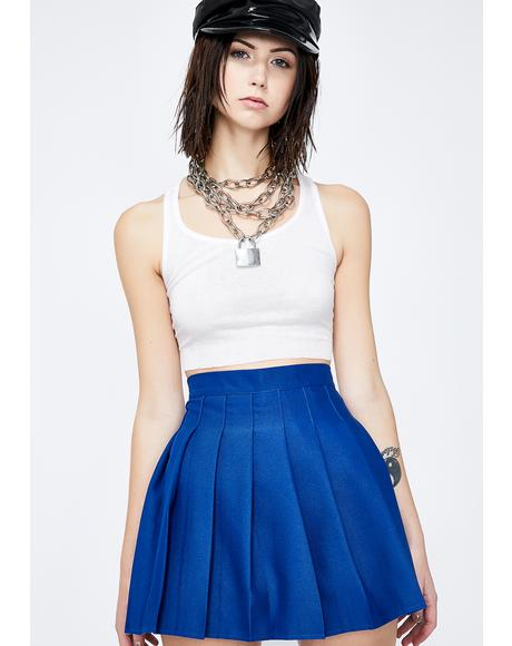 Royal Just Like Candy Pleated Skirt