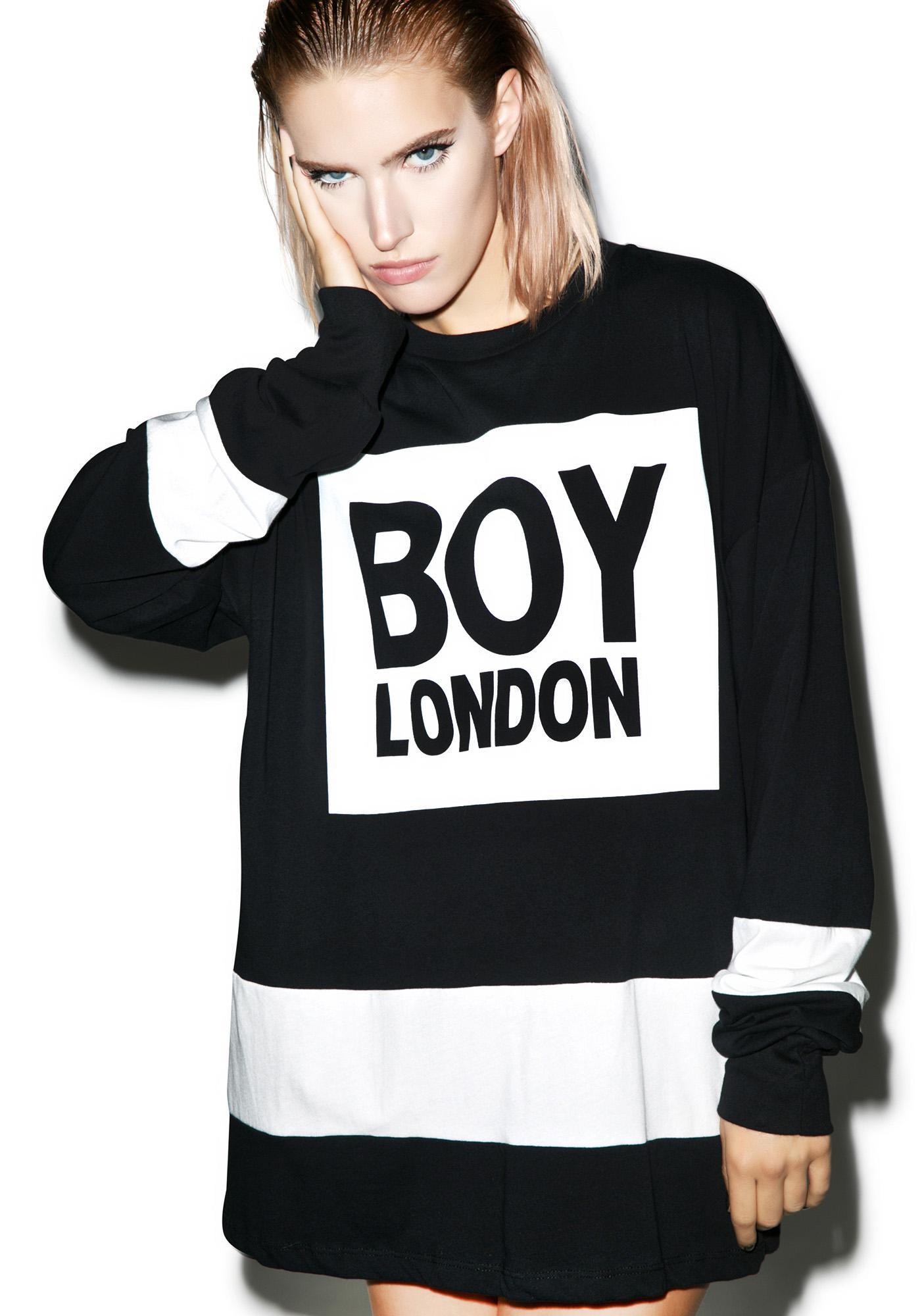 BOY London Eagle Boy Box Striped Top