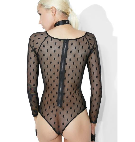 Time Out Sheer Dotted Bodysuit