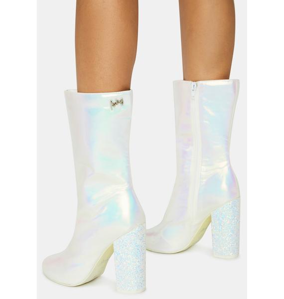 Sparkl Fairy Couture White Fairy Mini Boots