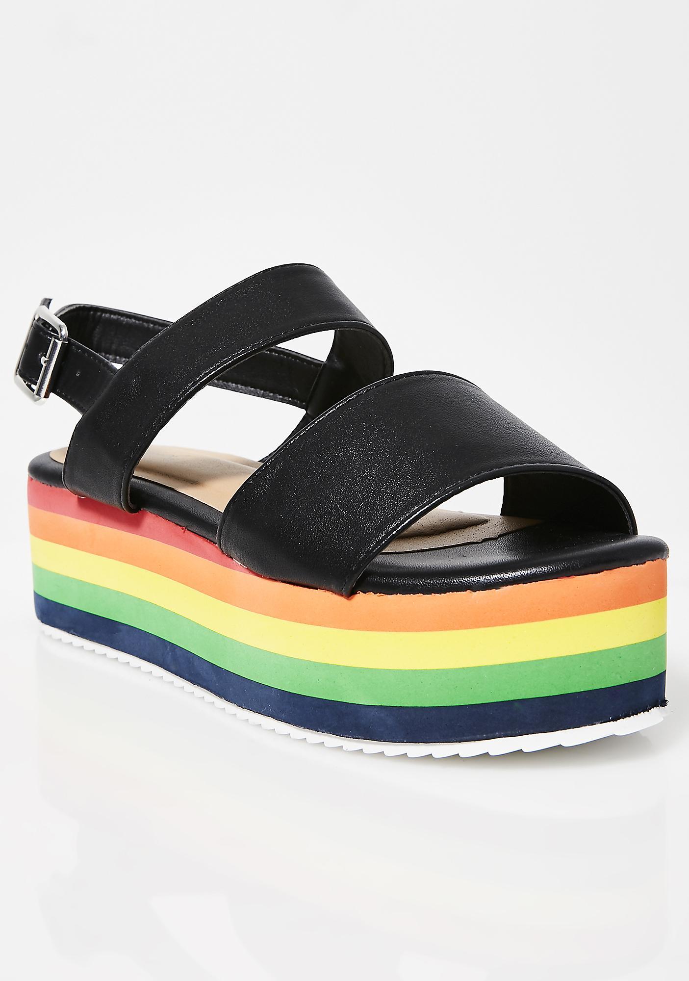 Bright Sunshine Platform Sandals