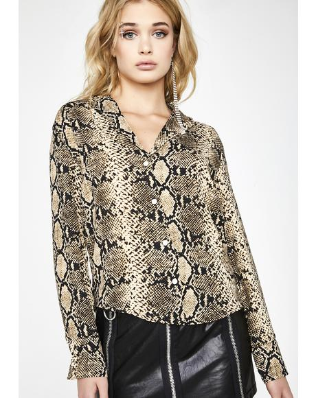 Sin Business Snake Blouse