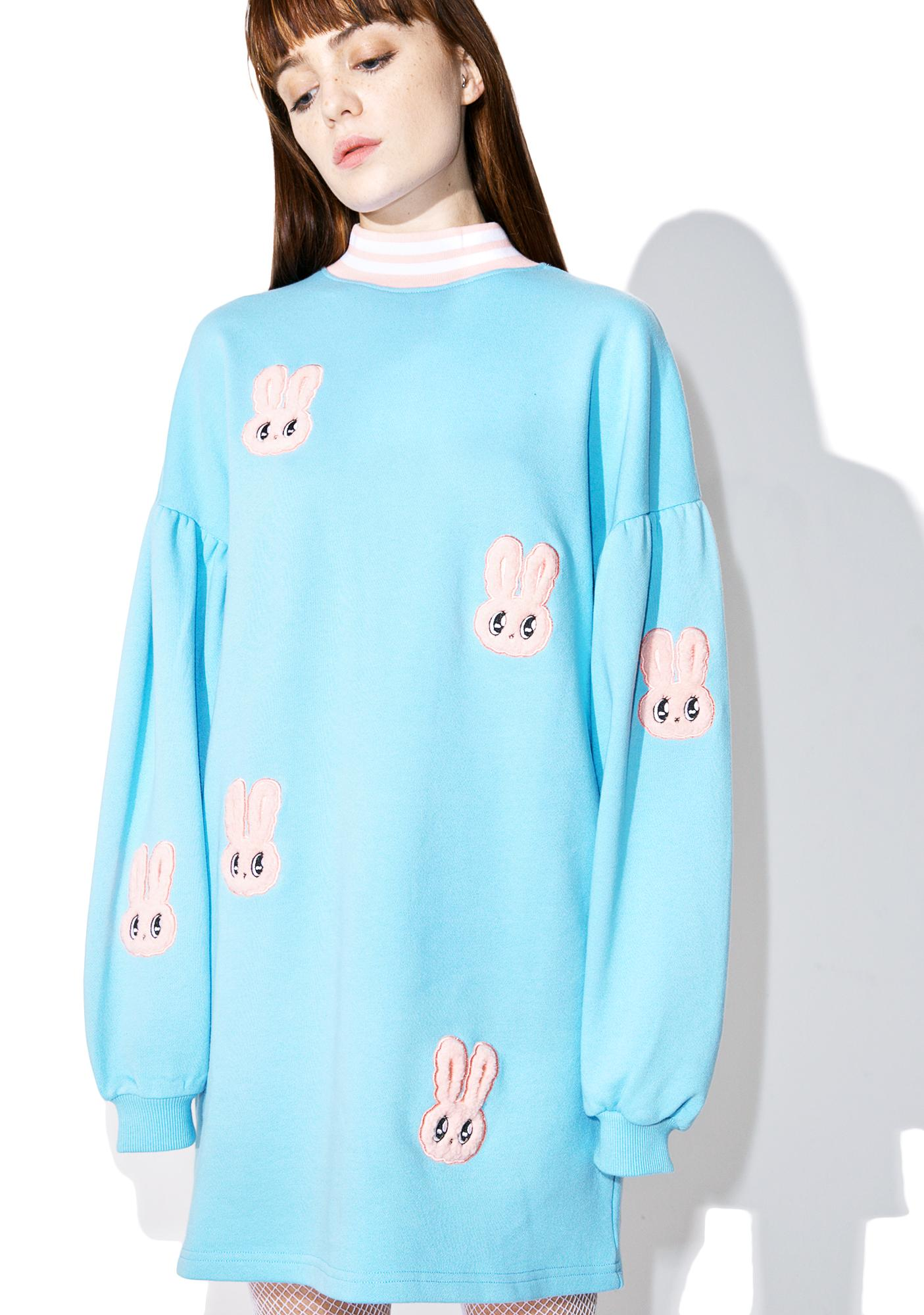 Lazy Oaf Esther Loves Oaf Bunny Sweater