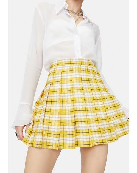 Step Into A Dream Plaid Skirt