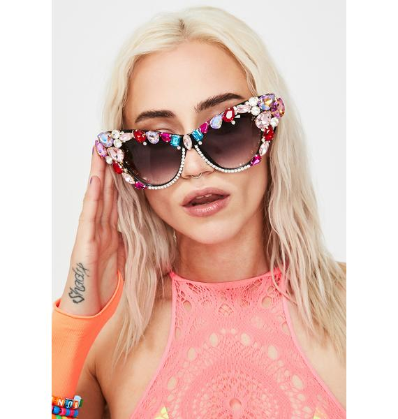 Bling Me Out Rhinestone Sunglasses