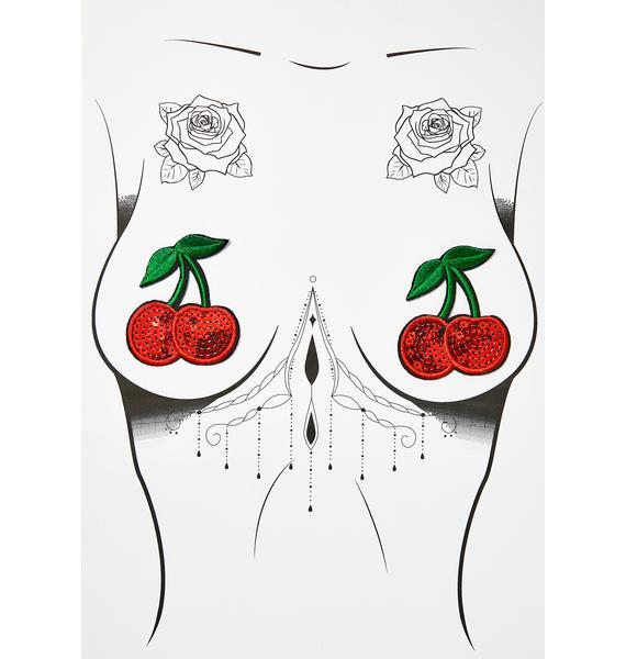 Neva Nude Cherry Nifty Nipztix Pasties