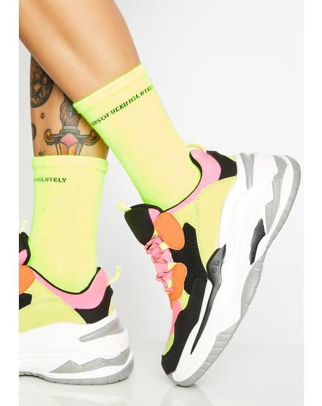 Neon Lavish Legacy Platform Sneakers