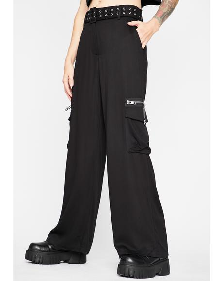 User Warning Wide Leg Pants