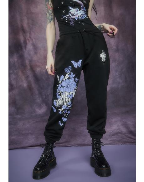 Rare Beauty Floral Print Sweatpants