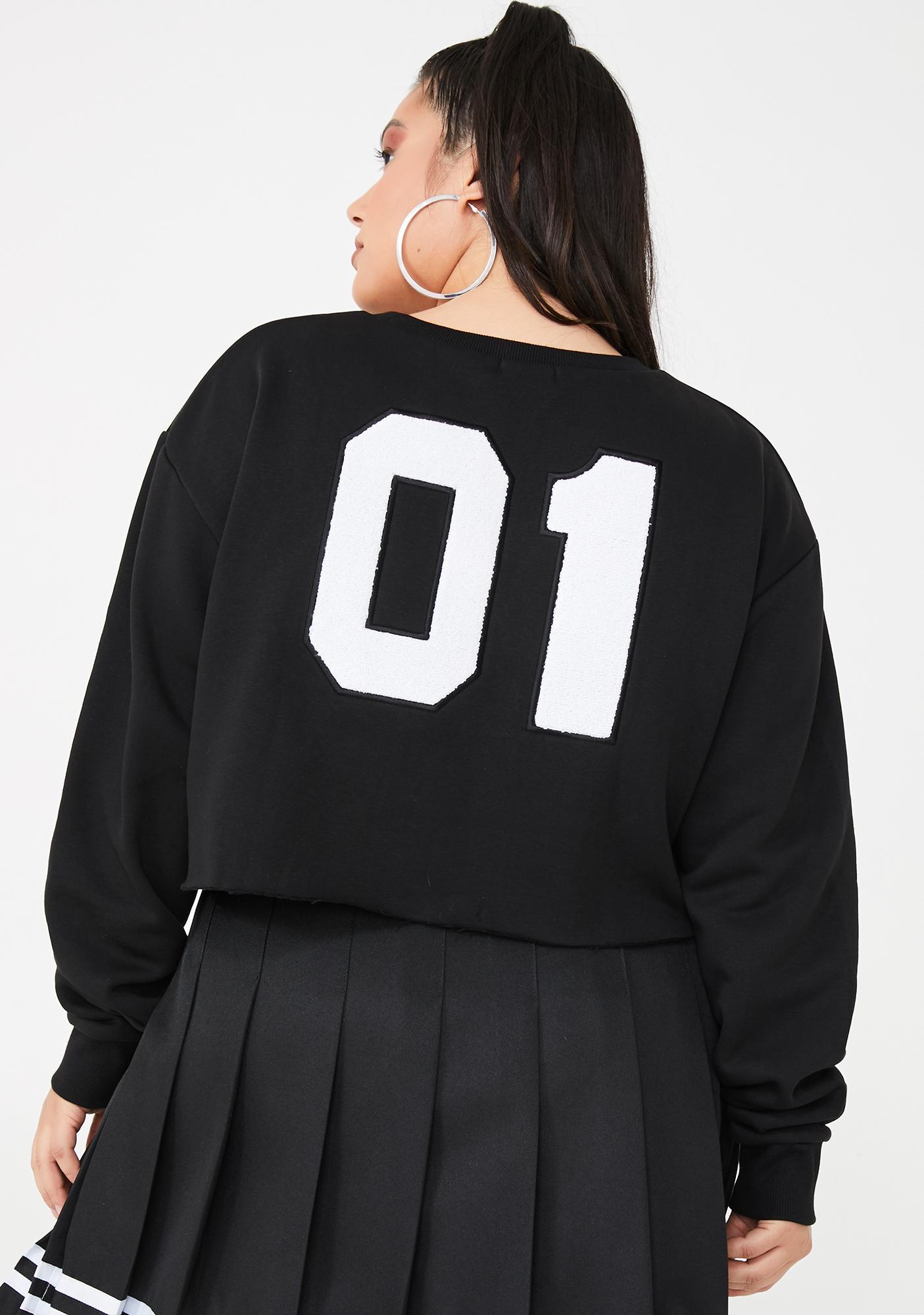 Poster Grl Legit Bish Squad Cropped Sweatshirt