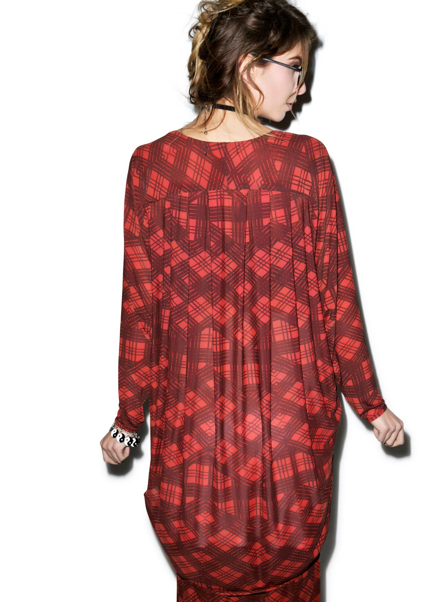 Evil Twin Plaid-ical Mesh Duster