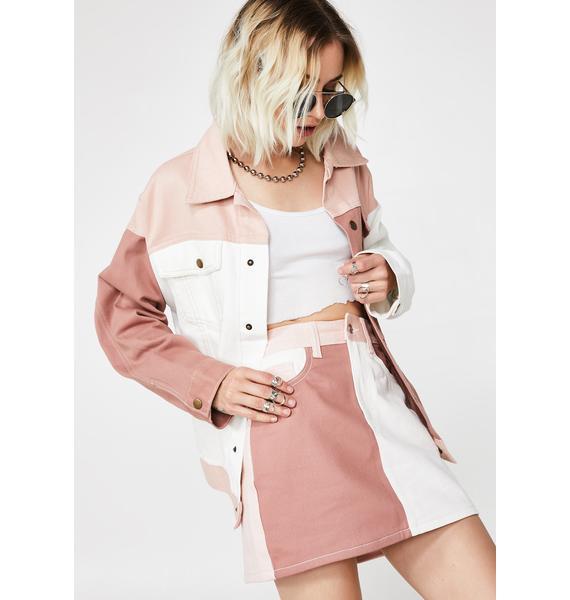 Momokrom Colorblock Skirt