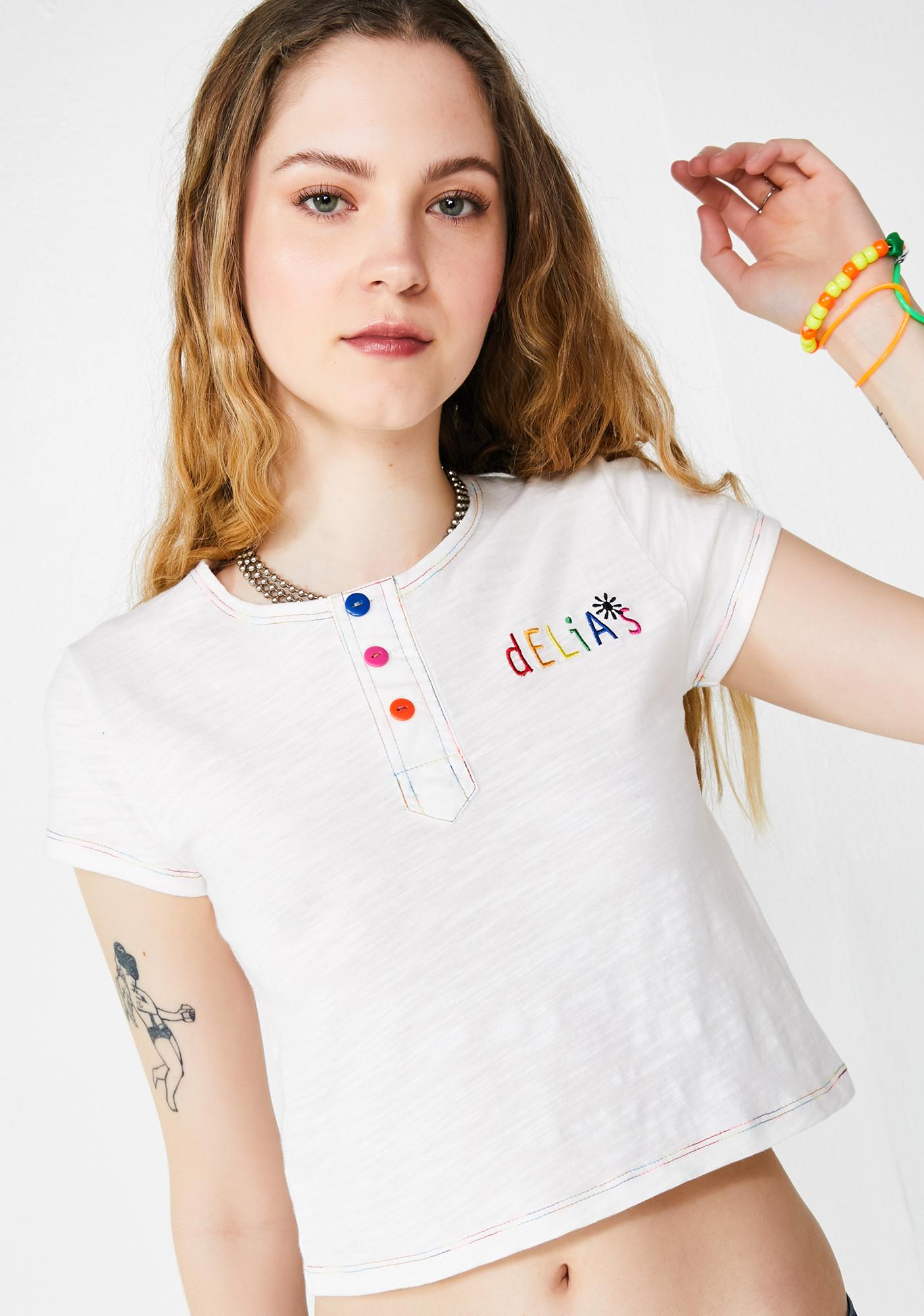 dELiA*s by Dolls Kill Mega QT Crop Top