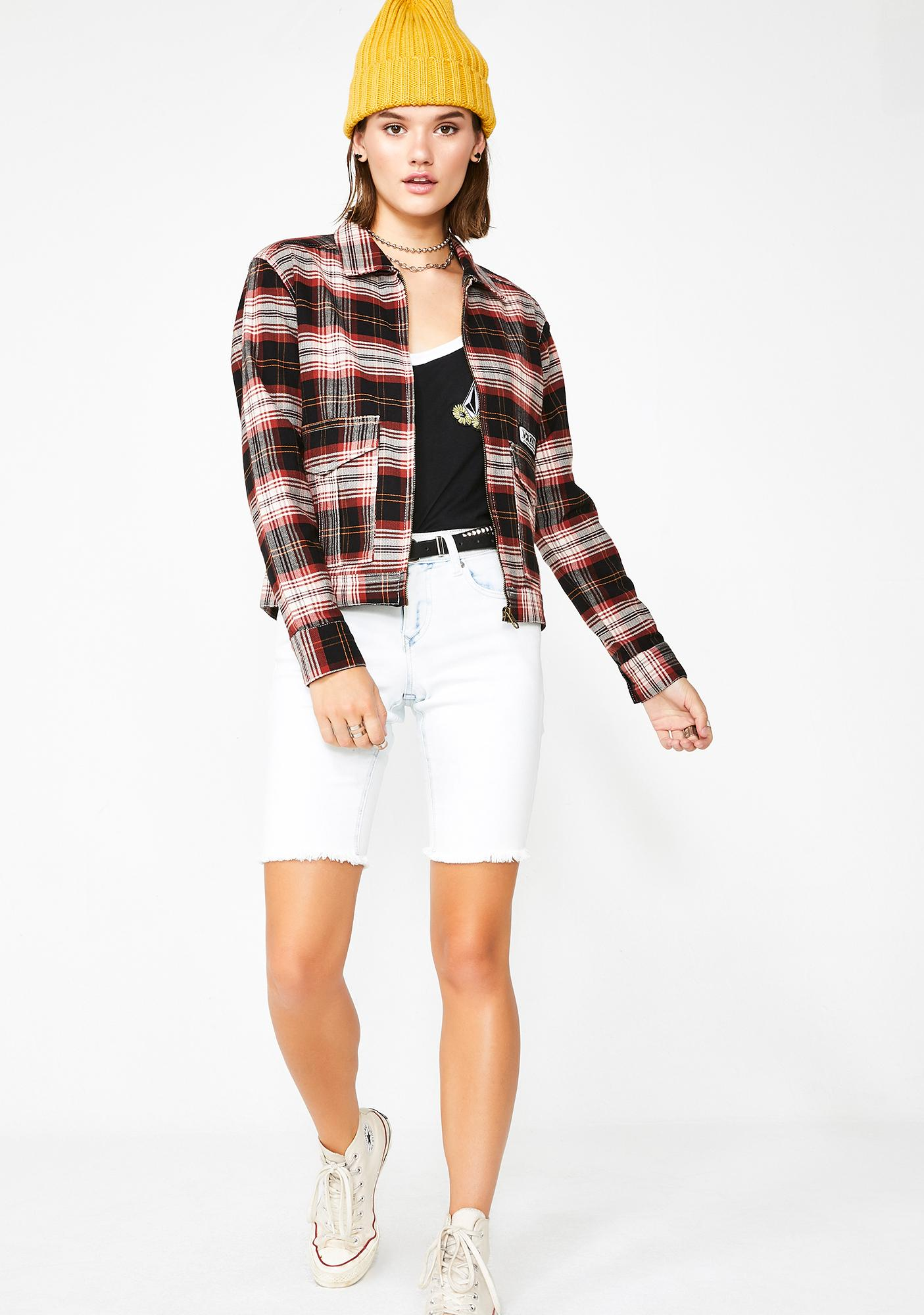 Volcom Plaid Frochickie Jacket