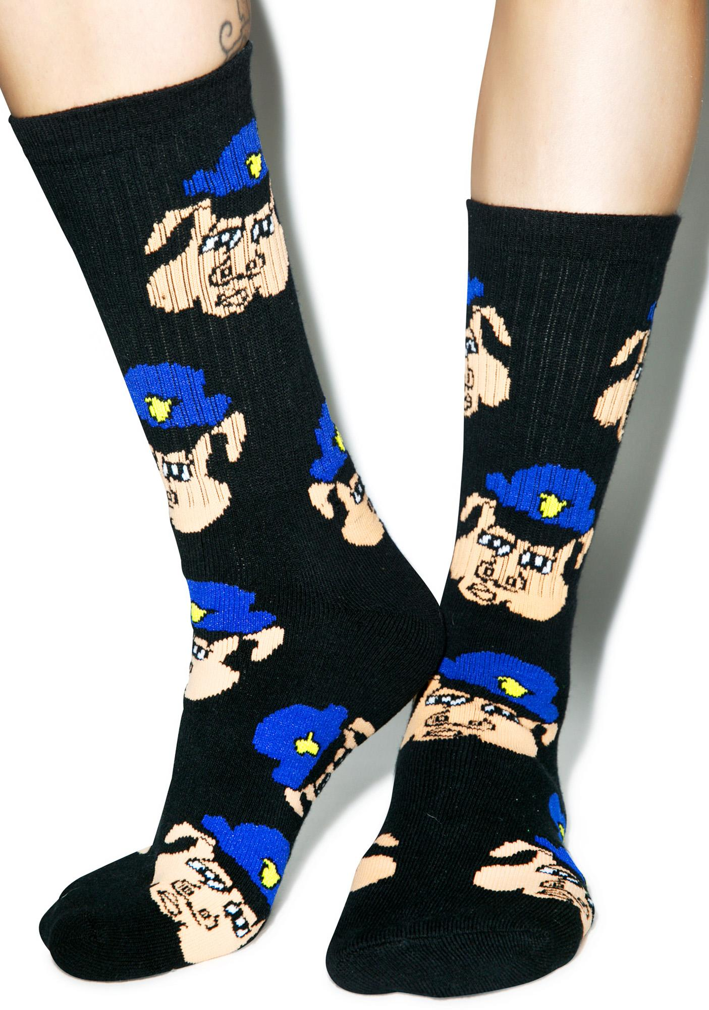40s & Shorties Pig Cop Socks